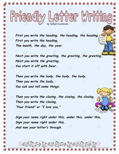 Kids Letter Sample Kidsletterguide On Pinterest
