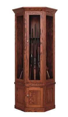 Your husband will love this Amish handcrafted Corner Gun Cabinet wrapped under the tree this Christmas :)