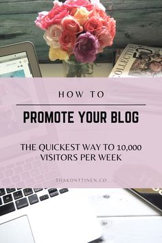 How To Promote Your Blog: The Quickest Way to 10,000 Visitors Per Week | Tiia Konttinen | These are great questions, and ones that I have struggled with in the past. To help you avoid some of the same mistakes I made, I'd like to discuss how to promote your blog. Specifically, I will be outlining the quickest way to 10,000 visitors per week. Mistakes, Promotion, About Me Blog, This Or That Questions