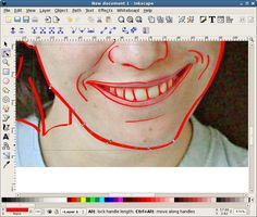 Make a vector face in Inkscape
