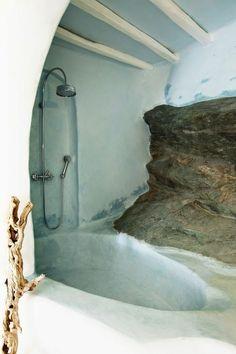 Moon to Moon: Earth Ship and Cob house Bathrooms