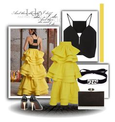 Untitled #764 by fl4u on Polyvore featuring polyvore fashion style Rosie Assoulin Lanvin Judith Leiber Roxanne Assoulin clothing