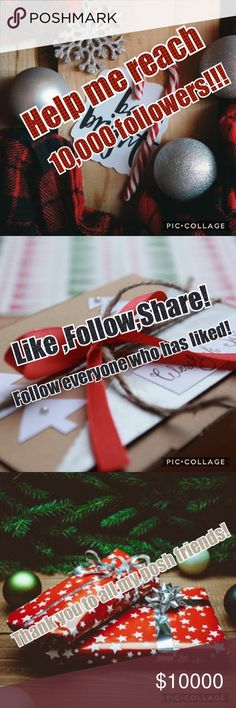 Follow Game Hey friends!!🦄 I am trying to build my posh family! If you would help me out, that would be great! 🌹 💟Like this post 💟Share this post 💟Follow everyone who has already liked it! Thank you all!!! Other
