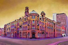Manchester Art Prints - Artwork - Unique Art from Manchester Artists Manchester Art, Athens, Unique Art, Fine Art Prints, Print Design, Louvre, Architecture, City, Gallery