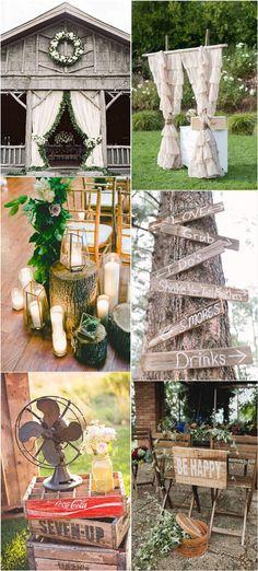 rustic country wedding decor ideas / http://www.deerpearlflowers.com/rustic-wedding-details-ideas-you-will-love/