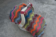 Ravelry: Chevron Car Seat Canopy Blanket Tent Cover pattern by Heather Ormond