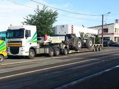 La semi-remorque GigaMAX de Faymonville convient au transport des engins de construction. #transports Courcelle