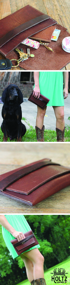 The Moriah Fine Leather Clutch is handmade right here in our shop with the finest of Full Grain American leathers. We hand pick our leather hides from a local tannery ~ for a rustic look and feel. This is a gift that will be used and loved for a lifetime!