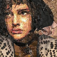 Mosaic Art, Mosaic Tiles, Mosaic Portrait, Scrap Material, Portraits, Abstract, Face, Fictional Characters, Glass
