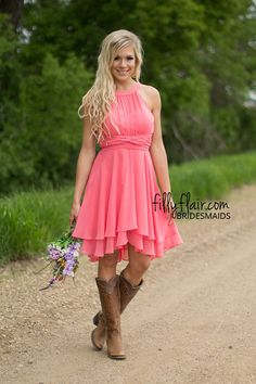 """This adorable form fitting sleeveless mini dress in soft coral is the ultimate addition to any wardrobe, but would also work perfectly as a bridesmaid dress for all you spring brides! Length in Small 36"""" Medium 37"""" Large 38"""" Xlarge 39""""Bust in Small 32"""" Medium 33"""" Large 34"""" Xlarge 35""""Waist in Small 30"""" Medium 31"""" Large 32"""" Xlarge 33""""100% PolyesterDry Clean OnlyModel is size 4 in a small.Small 0/4, Medium 6/8, Large 10/12"""