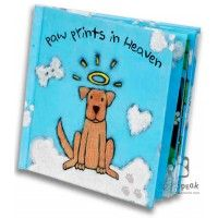 """Paw Prints in Heaven"" Sympathy Book Unique Sympathy Gifts, Dog Picture Frames,"