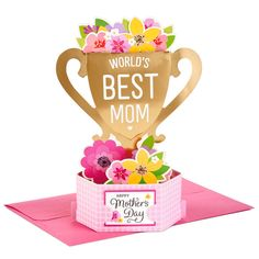World's Best Mom Trophy Pop-Up Mother's Day Card - Greeting Cards - Hallmark Sweet Mothers Day Messages, Mother Day Message, Funny Mothers Day, Mothers Day Crafts For Kids, Diy Mothers Day Gifts, Mothers Day Cards, Happy Mothers Day, Mothers Day Event, Easy Diy Mother's Day Gifts
