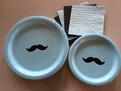 24 Set Mustache Party Plates - Stache Bash, Moustache Theme Party, Mustache Bash, Little Man Baby Shower, Birthday Plates, Bachelor Party by SteshaParty on Etsy https://www.etsy.com/listing/234554391/24-set-mustache-party-plates-stache-bash