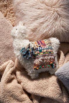 Oh my goodness llama pillow! My toddler loves llamas and I feel this pillow would go everywhere with us! But I kind of wanna snuggle the llama pillow! Alpacas, Bolster Pillow, Throw Pillows, Fur Throw, Fleece Throw, Cozy Blankets, Accent Pillows, Llama Pillow, Llama Llama