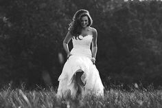 Farm bridal session in a field (Concept Photography)