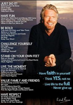 The words of Sir Richard Branson Motivacional Quotes, Great Quotes, Quotes To Live By, Inspirational Quotes, Wisdom Quotes, Motivational Sayings, Quotes Images, Daily Quotes, The Words