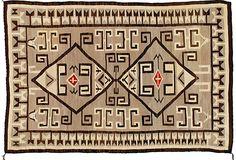 """Antique Navajo Rug, 7'6"""" x 5' - 1900-1910"""