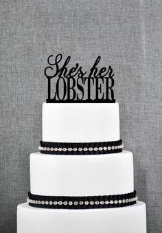 She's Her Lobster Lesbian Cake Topper from ThatGaySite.com! Gay wedding, lesbian wedding, friends, phoebe buffet