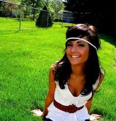 .. cute headband/hair and shirt with belt