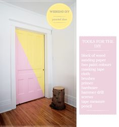 Why note paint a door ... in multi-colors, even ... to jazz up a hallway