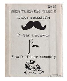 'Gentlemen Guide' Art Print