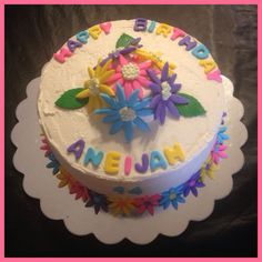 1234 Cake ruffle print just because elegant Simple design vanilla