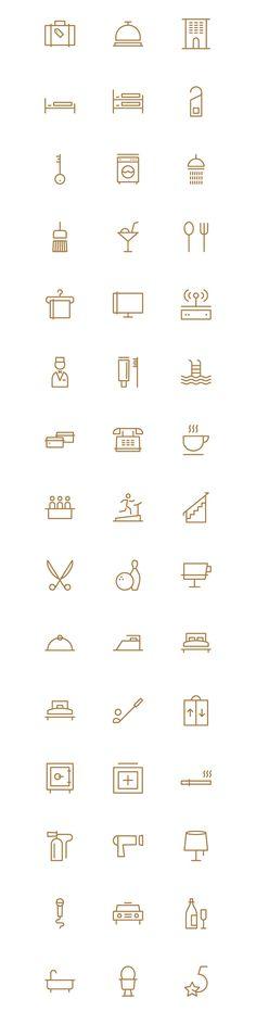 Hotel Theme Icons on Behance