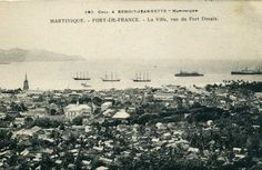 La ville vue depuis le Fort Desaix, Fort-de-France -  Carte postale, Collection A. Benoit -  Date inconnue
