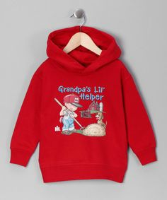 Take a look at this Red 'Grandpa's Lil' Helper' Hoodie - Toddler & Boys by International Harvester on #zulily today!