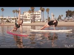 For her latest Angeleno fit trip, Bianca Posterli soaked up the sun in Marina del Rey—where the ocean was her yoga mat—for an afternoon of standup paddleboard yoga with the founder of Yogaqua.   #healthyobsessions