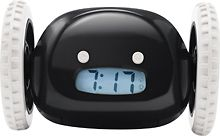 an alarm clock that jumps off your dresser and hides somewhere in your room until you wake up!