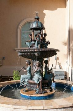 Sculpture at brides mansion