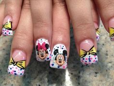 Minnie+Mouse+Nail+Art | Cute Disney Nail Art: Mickey And Minnie Mouse Nails Image – Smioss