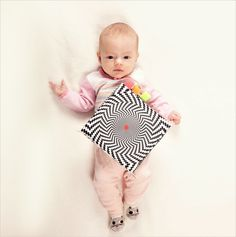 High Contrast Infant Stimulation - Soft Cloth Book from Aunt Camilla.