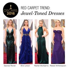 """Red Carpet Trend: Jewel-Toned Dresses"" by polyvore-editorial ❤ liked on Polyvore featuring RedCarpet, Oscars and jeweltones"