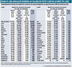 Topul judeţelor din România cu cele mai multe salarii de peste 5.000 de lei pe lună - Mediafax