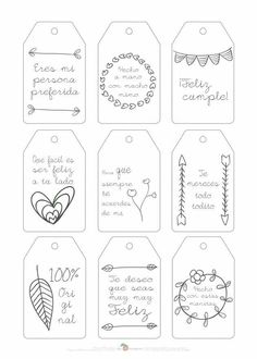 Doodle for Notebook. Diy And Crafts, Paper Crafts, Little Presents, Diy Birthday, Birthday Doodle, Birthday Gifts, Boyfriend Gifts, Diy Gifts, Gift Tags