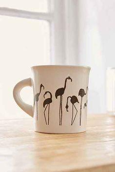 Flamingo Diner Mug - Urban Outfitters