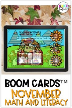 Engage your students and practice MATH AND LITERACY SKILLS with these fall-themed Boom Cards! This November Math and Literacy bundle covers a variety of skills including letter sounds, CVC words, rhyming, numbers to 20, and more! Perfect for Kindergarten, Preschool, and First Grade! They are perfect for centers, independent work time, small group instruction, and distance learning.
