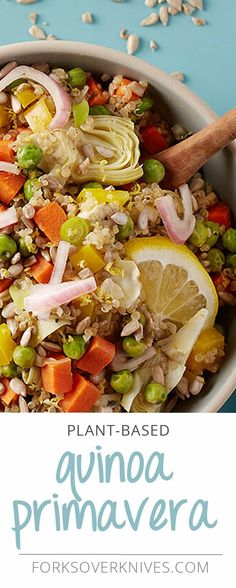 This colorful quinoa will make you say quin-wow! Jam-packed with loads of yummy veggies, this dish makes a one-pot meal that packs a tasty punch.