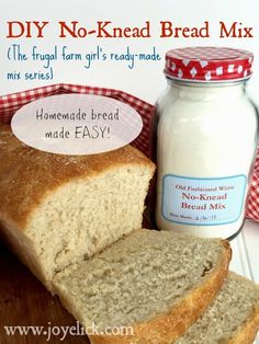 Farm Girl Inspirations: DIY No-Knead BREAD MIX: The frugal farm girl's ready-made mix series. No Knead Bread, Fresh Bread, Real Food Recipes, Jar Recipes, Canning Recipes, Recipies, How To Make Bread, Diy Food, Bread Baking