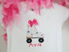 Personalized Roller Skate Shirt Custom Name by OhSoCheekyBoutique, $23.99