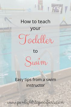 How to teach your baby or toddler to swim, tips from a swim lesson instructor. S… How to teach your baby or toddler to swim, tips from a swim lesson instructor. So easy to start! Teach Toddler To Swim, Toddler Swimming Lessons, How To Teach Kids, Baby Swimming, Swim Lessons, Swimming Coach, Swimming Tips, Swimming Pools, Swimming Workouts
