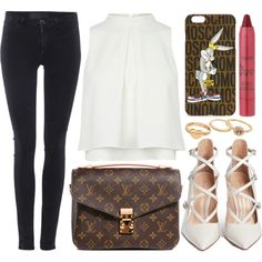 A fashion look from September 2015 featuring Samsøe & Samsøe leggings, Gianvito Rossi pumps and Louis Vuitton shoulder bags. Browse and shop related looks.