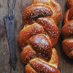 Challah Recipe - Saveur.com. And please don't cut it all nicely with a bread knife-break it with your hands!!!!