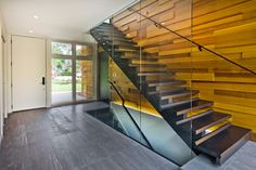 Burnham House - Contemporary - Staircase - minneapolis - by Gilbertson Photography