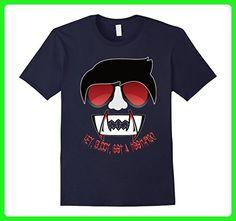Mens Vampire Shirt with Fangs 3XL Navy - Fantasy sci fi shirts (*Amazon Partner-Link)