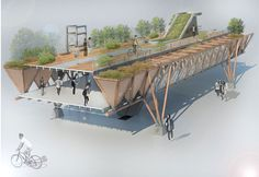 PROYECTO UNIDAD AVANZADA on Behance Bridges Architecture, Architecture Design, Concept Models Architecture, Architecture Concept Diagram, Green Architecture, Futuristic Architecture, Landscape Architecture, Public Architecture, Urban Design Concept