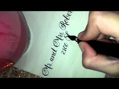 Full Action Calligraphy Video - YouTube