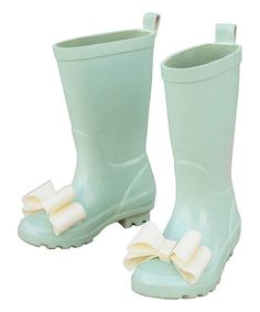 Another great find on #zulily! Spring Green Molly Rain Boot - Kids by Joyfolie #zulilyfinds